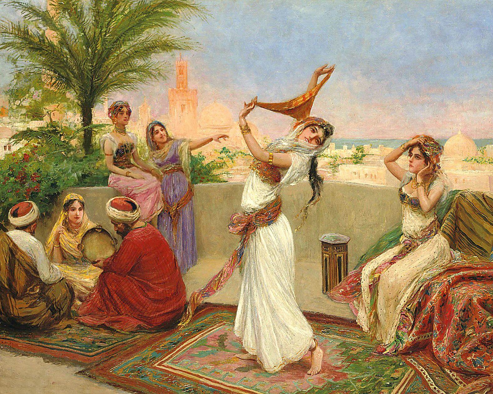 танцы с голыми девушками в древности